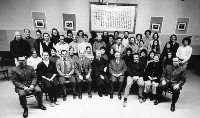 Gruppenfoto in der New Yorker Schule.