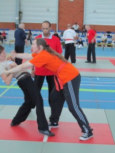 Push Hands Turnier Frauen während des Turniers