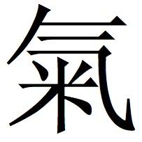 """Kalligraphie """"Chi"""" in moderner chinesischer Druckschrift"""