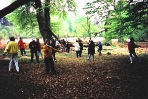 Qigong- Übungen im Wald