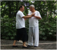 Tui Shou mit Meister aus Shanghai.