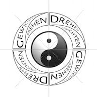 Yin Yang drehen gewichten